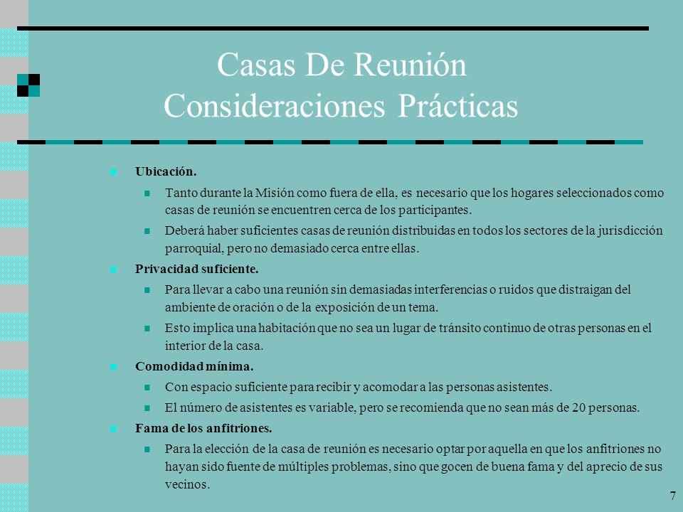 Casas De Reunión Consideraciones Prácticas