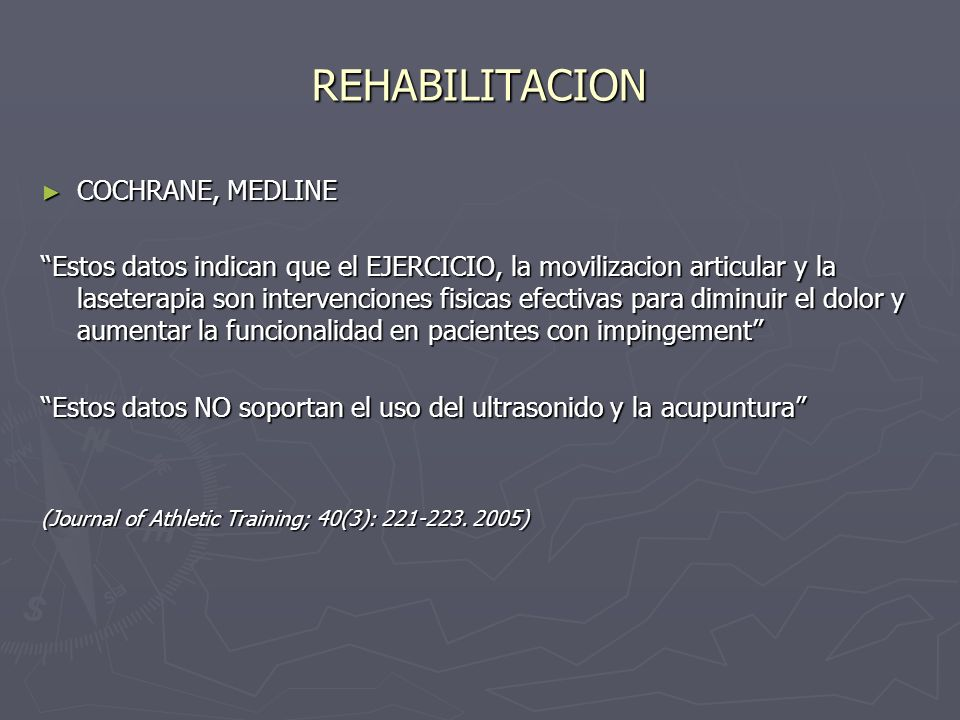 REHABILITACION COCHRANE, MEDLINE
