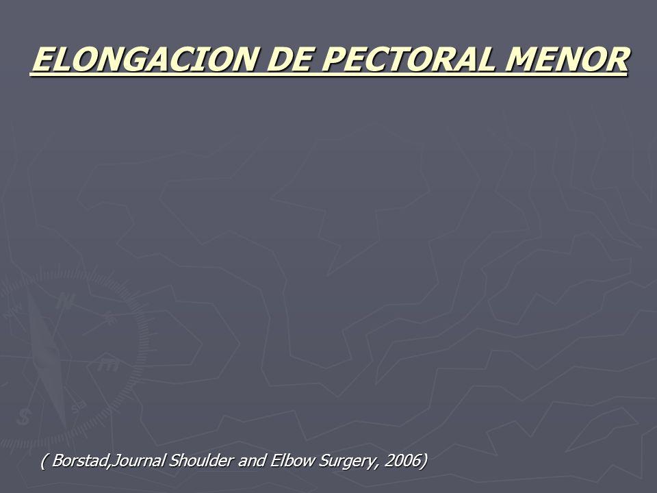 ELONGACION DE PECTORAL MENOR