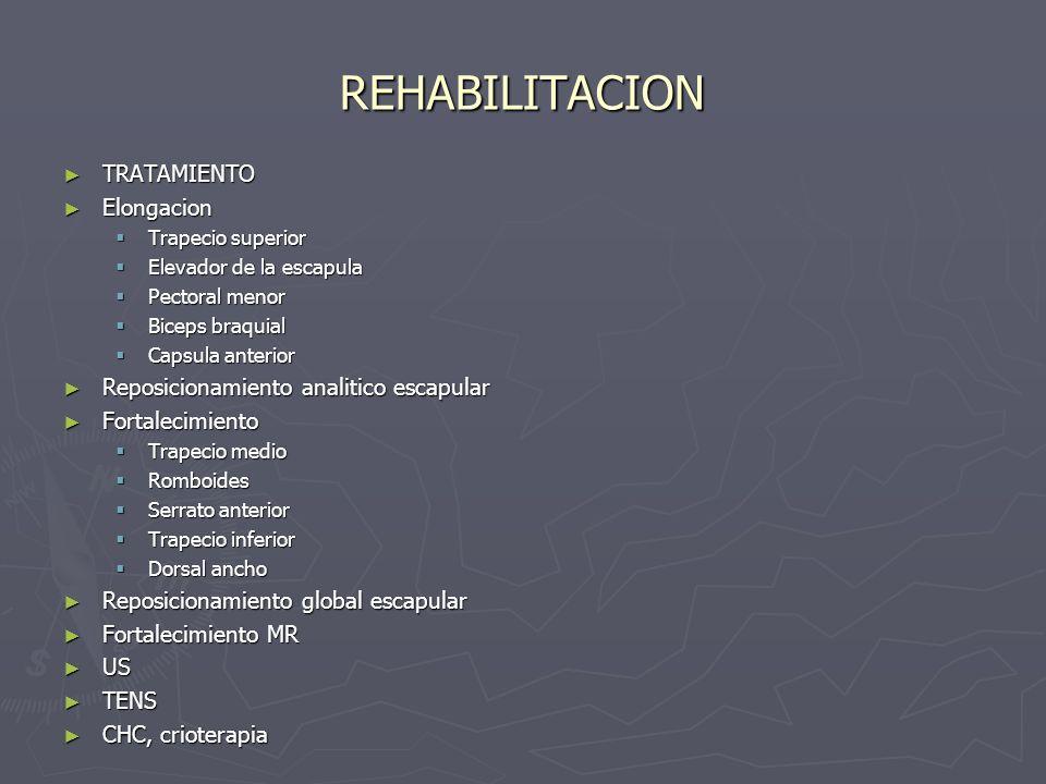 REHABILITACION TRATAMIENTO Elongacion
