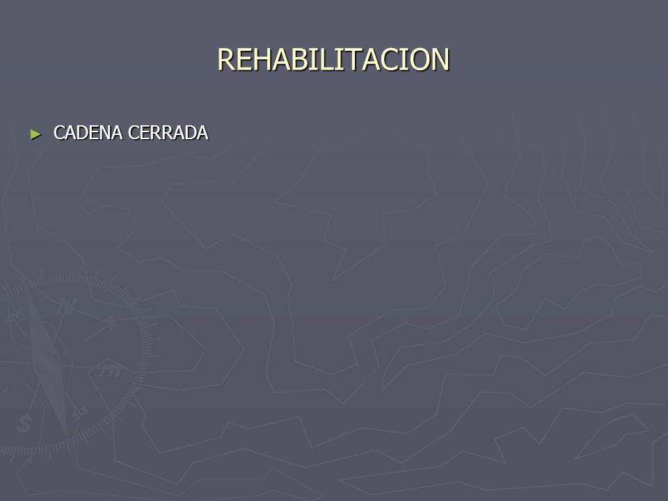 REHABILITACION CADENA CERRADA