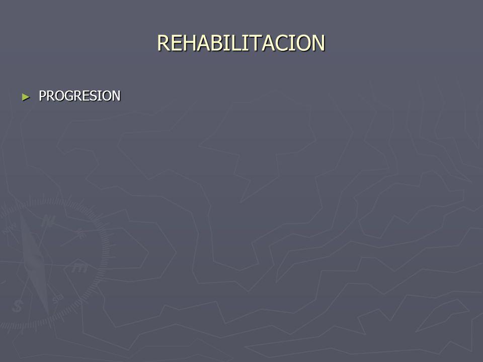 REHABILITACION PROGRESION