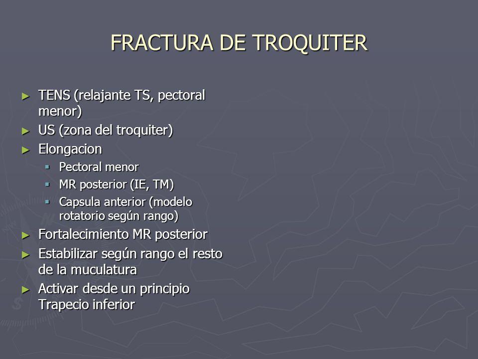 FRACTURA DE TROQUITER TENS (relajante TS, pectoral menor)
