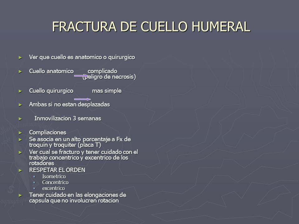 FRACTURA DE CUELLO HUMERAL