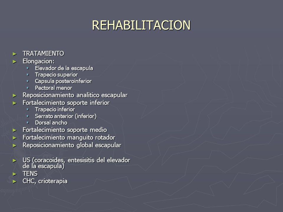 REHABILITACION TRATAMIENTO Elongacion: