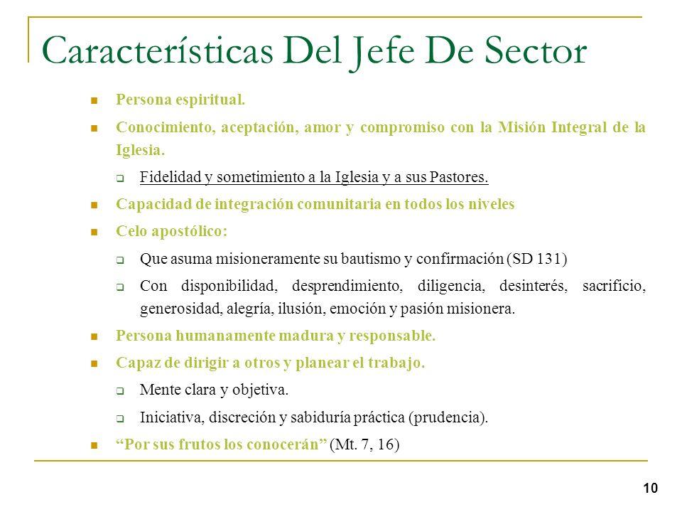 Características Del Jefe De Sector