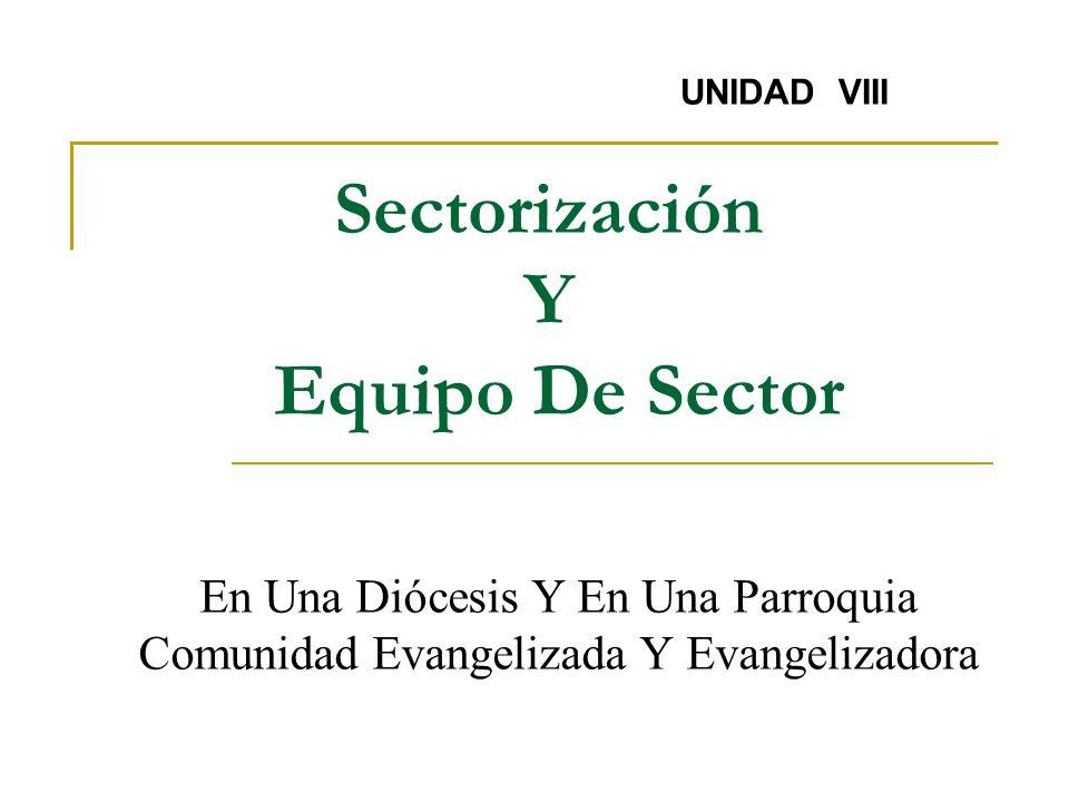 Sectorización Y Equipo De Sector
