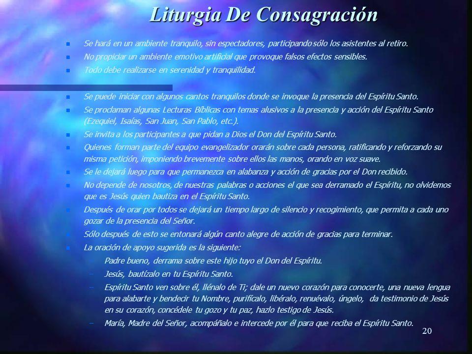 Liturgia De Consagración