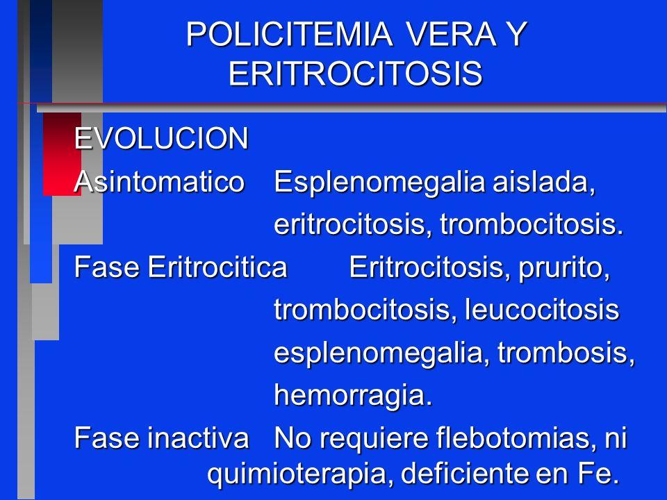 POLICITEMIA VERA Y ERITROCITOSIS