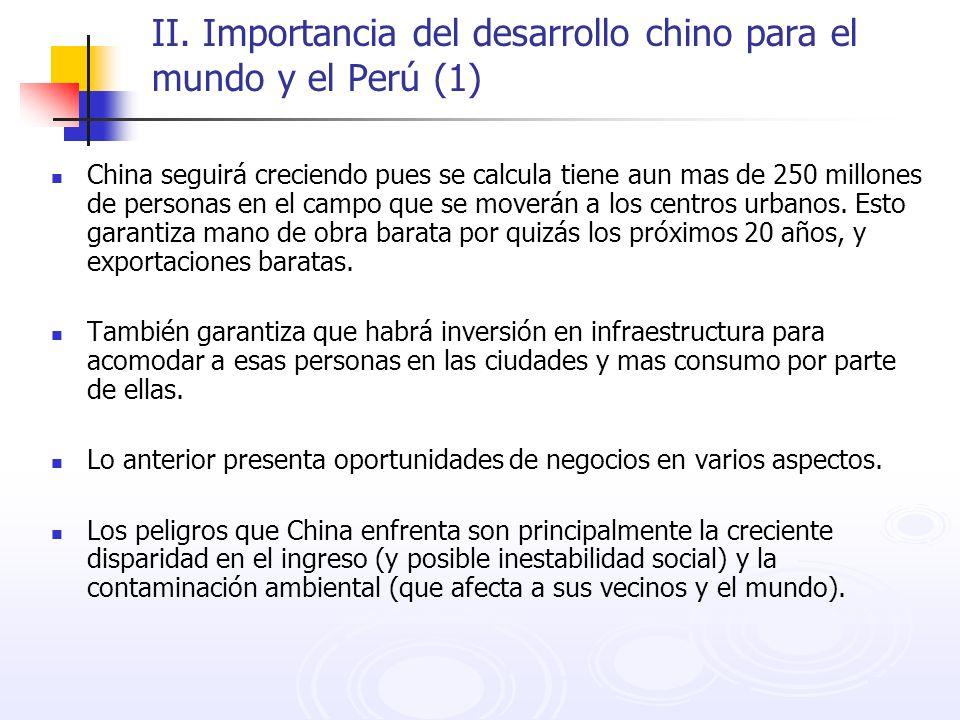 II. Importancia del desarrollo chino para el mundo y el Perú (1)