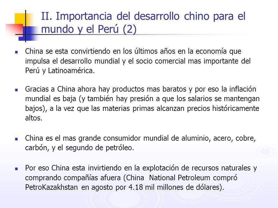 II. Importancia del desarrollo chino para el mundo y el Perú (2)