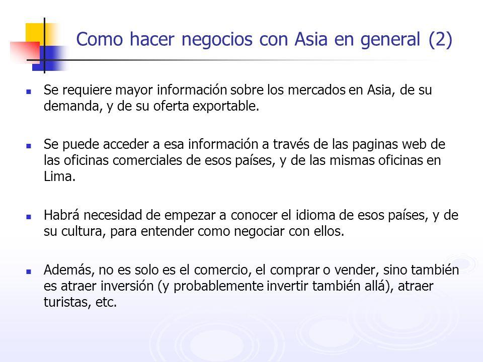 Como hacer negocios con Asia en general (2)
