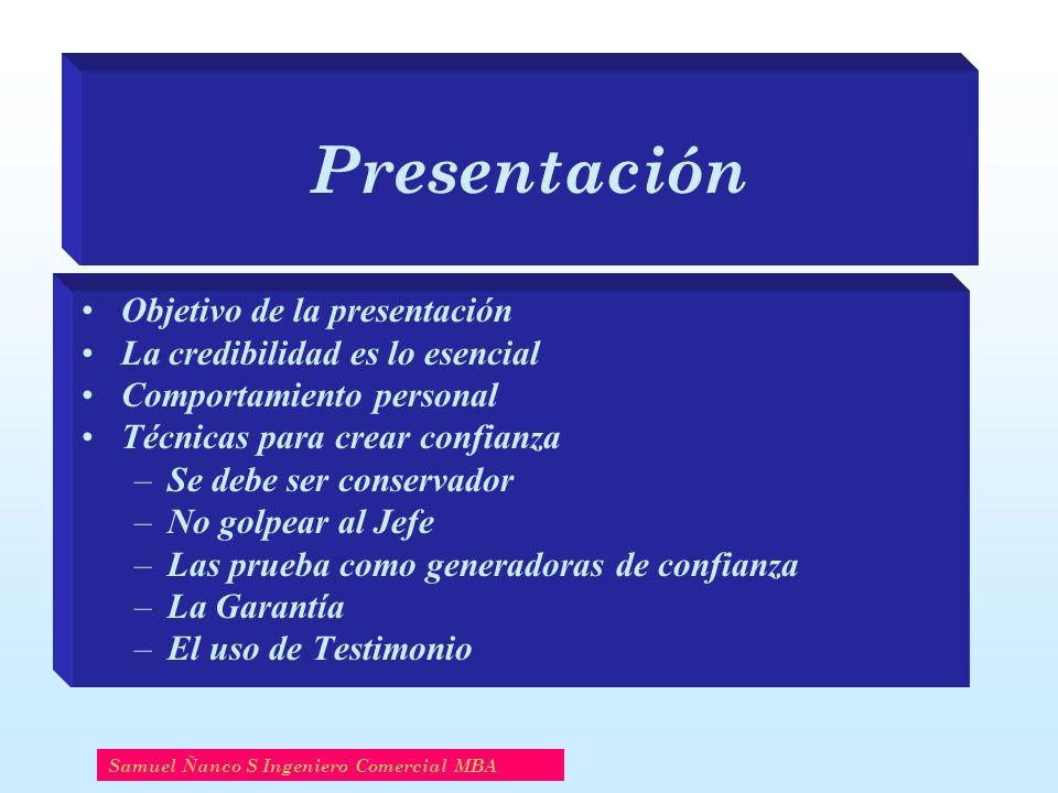 Presentación Objetivo de la presentación