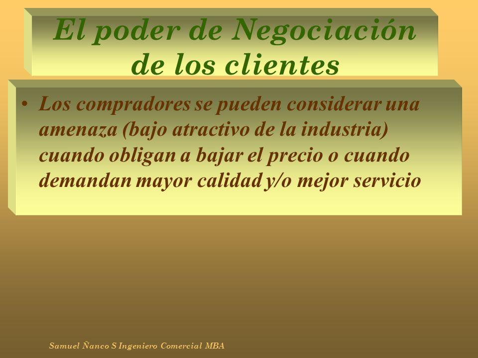 El poder de Negociación de los clientes