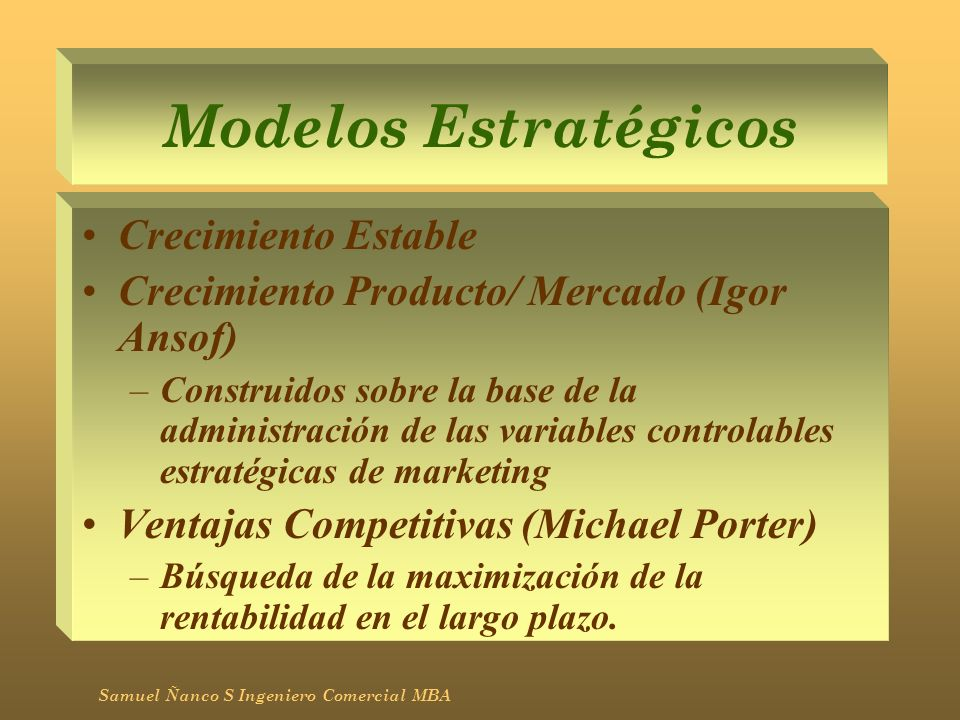 Modelos Estratégicos Crecimiento Estable