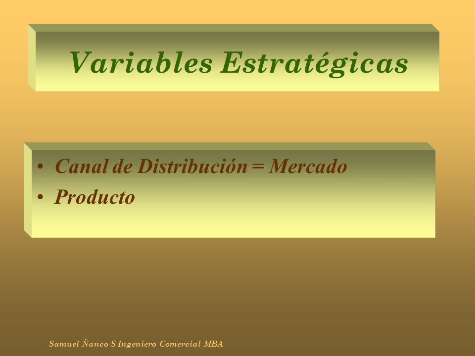 Variables Estratégicas