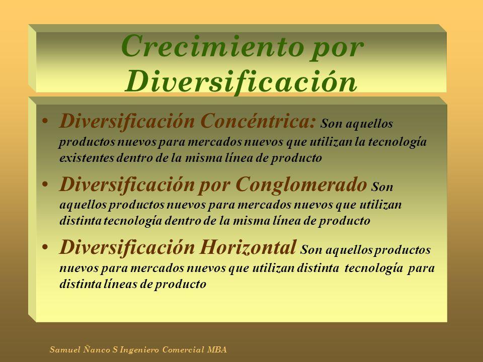 Crecimiento por Diversificación