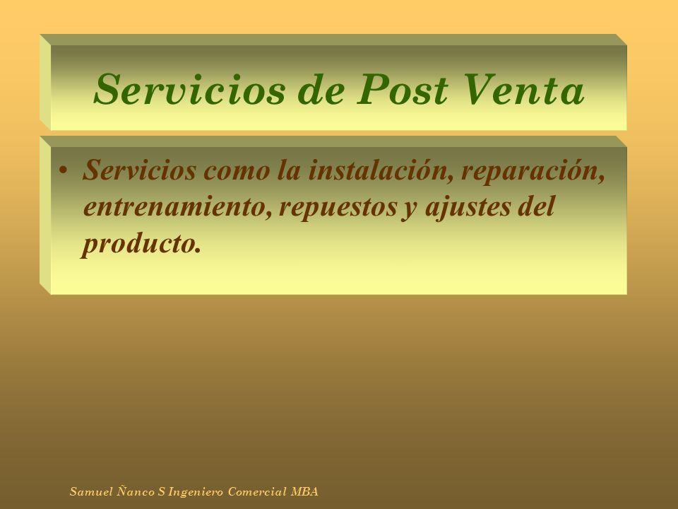 Servicios de Post Venta