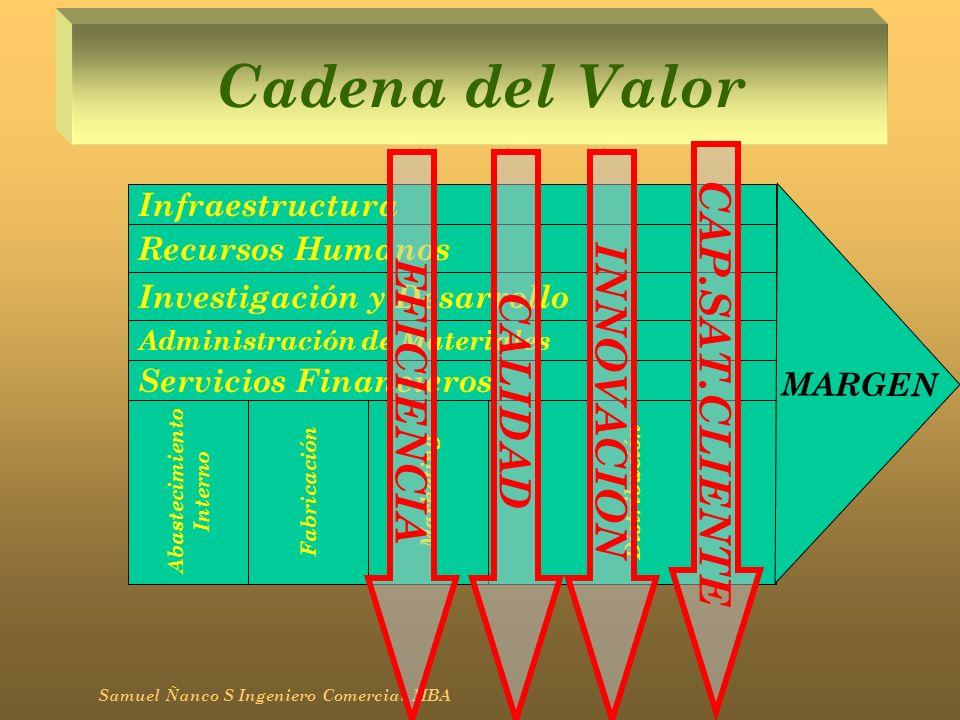 Cadena del Valor CAP.SAT.CLIENTE INNOVACION EFICIENCIA CALIDAD