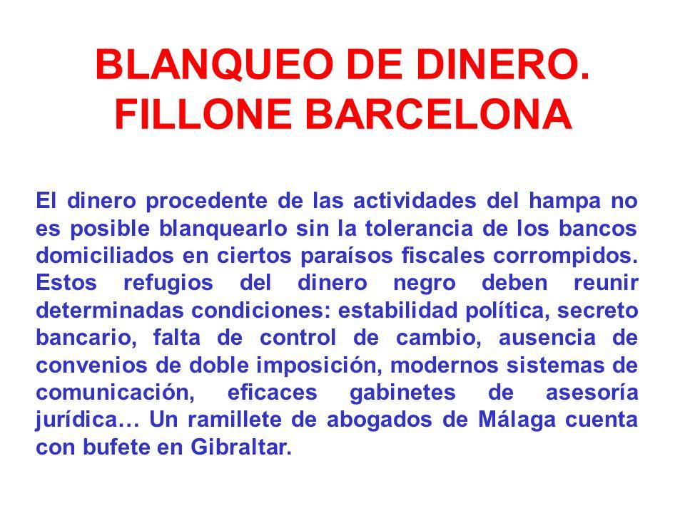 BLANQUEO DE DINERO. FILLONE BARCELONA