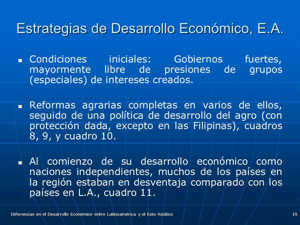 Estrategias de Desarrollo Económico, E.A.