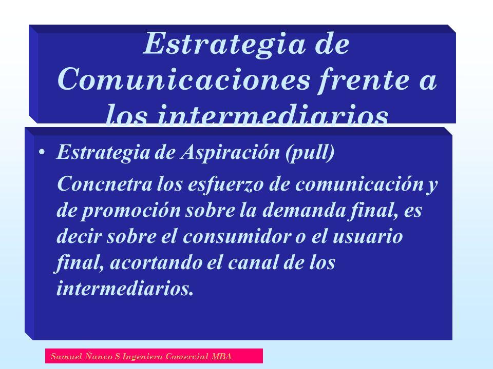 Estrategia de Comunicaciones frente a los intermediarios