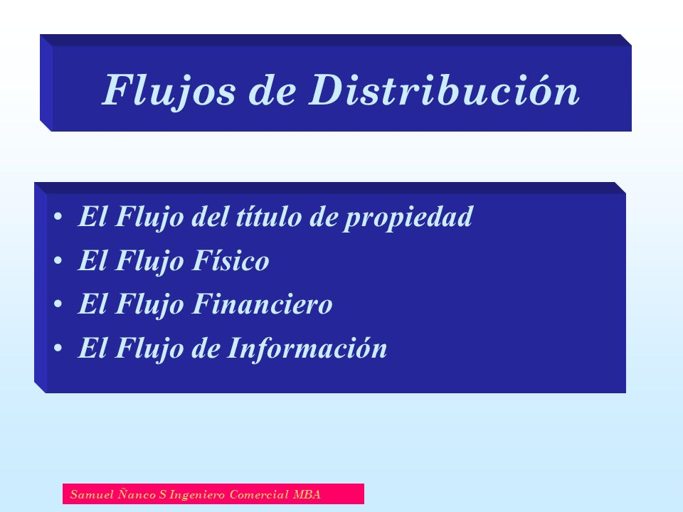 Flujos de Distribución