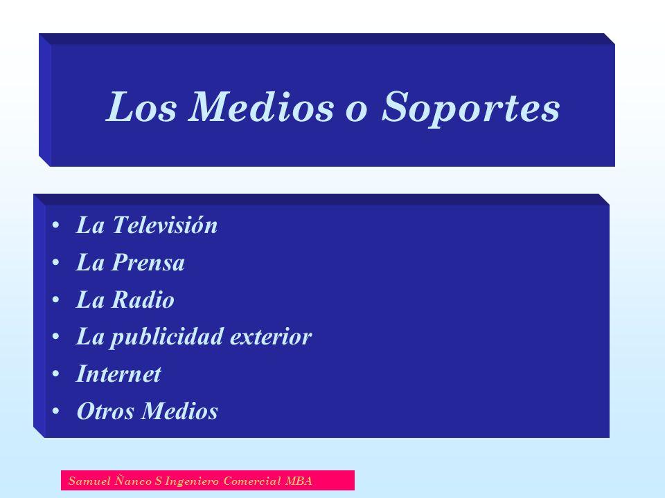 Los Medios o Soportes La Televisión La Prensa La Radio