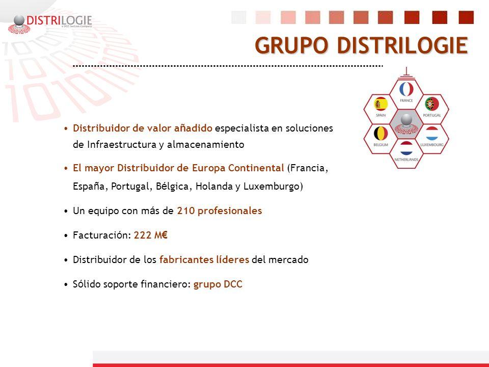 GRUPO DISTRILOGIE Distribuidor de valor añadido especialista en soluciones de Infraestructura y almacenamiento.