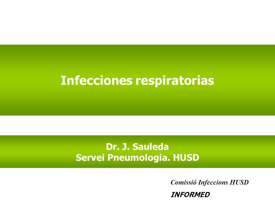 Infecciones respiratorias Servei Pneumologia. HUSD
