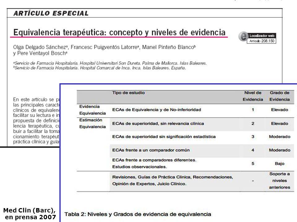 Med Clin (Barc), en prensa 2007