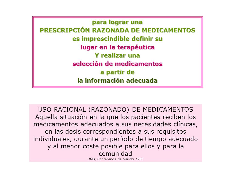 USO RACIONAL (RAZONADO) DE MEDICAMENTOS