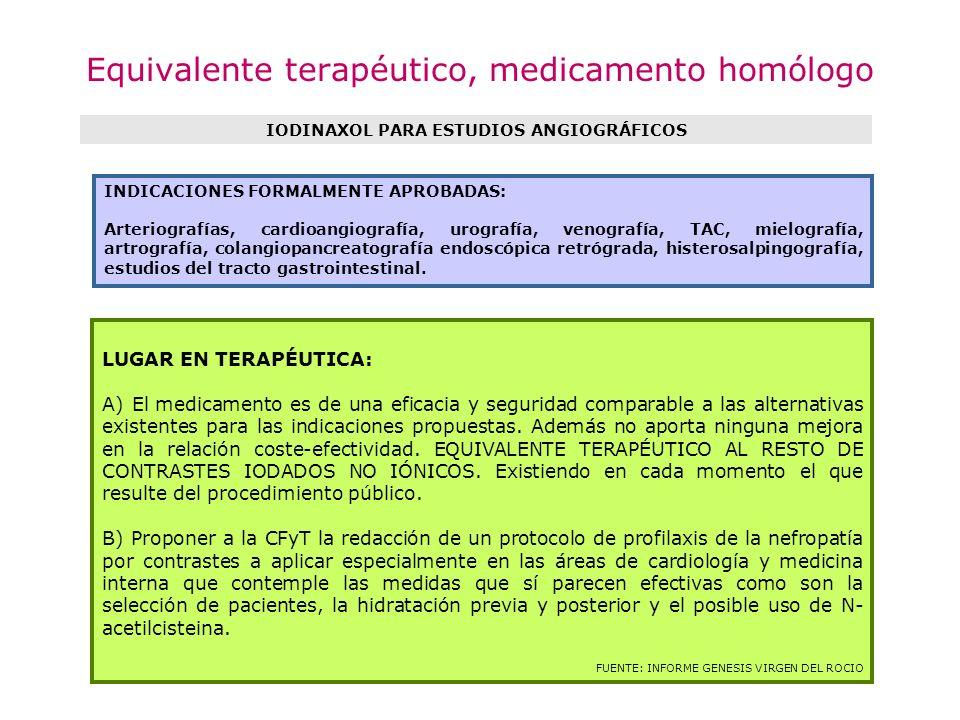 Equivalente terapéutico, medicamento homólogo