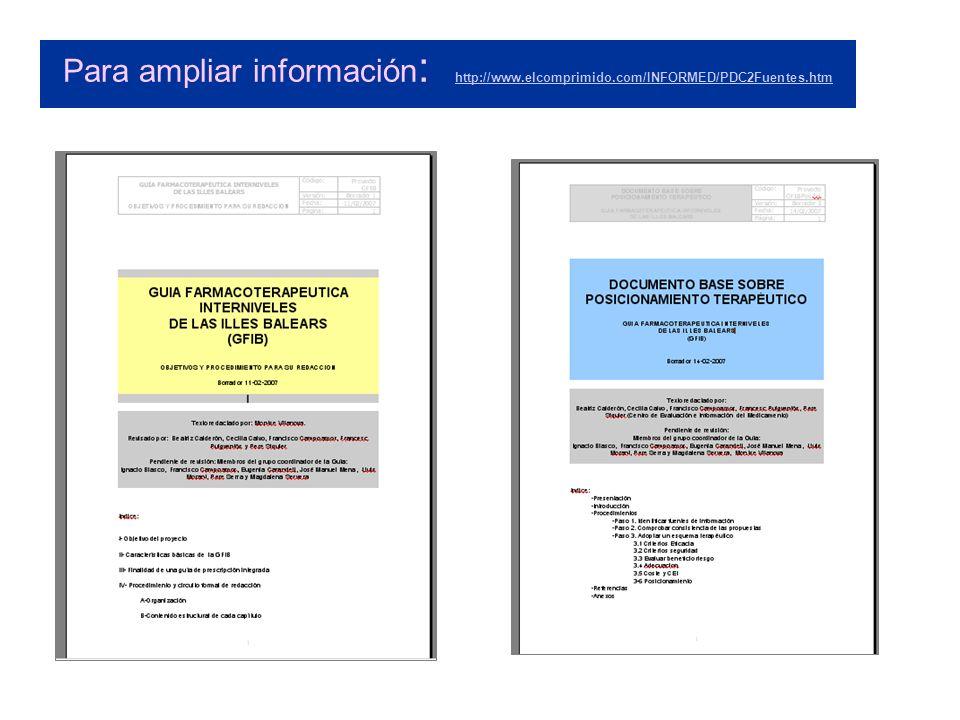 Para ampliar información: http://www. elcomprimido