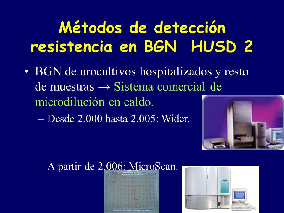 Métodos de detección resistencia en BGN HUSD 2