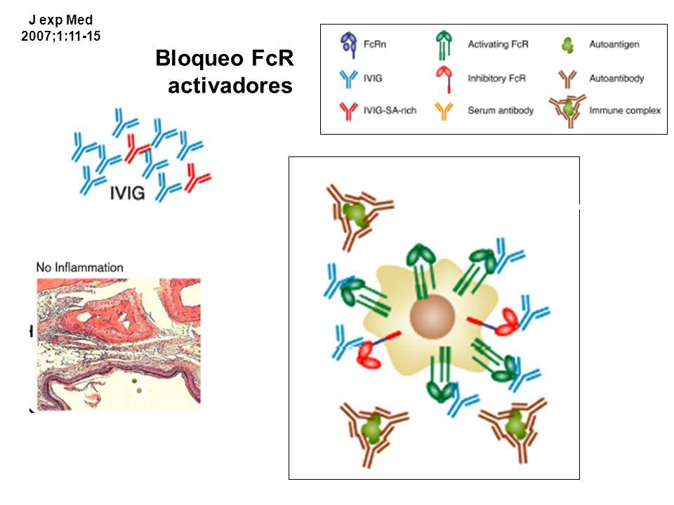Bloqueo FcR activadores