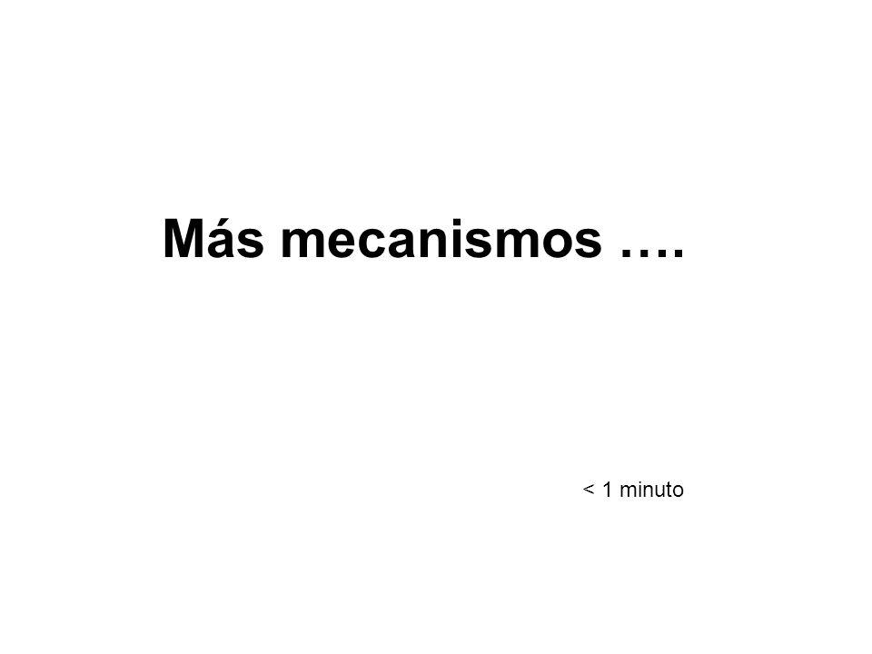 Más mecanismos …. < 1 minuto