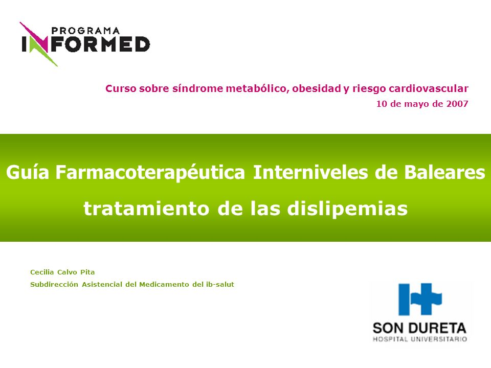 Guía Farmacoterapéutica Interniveles de Baleares