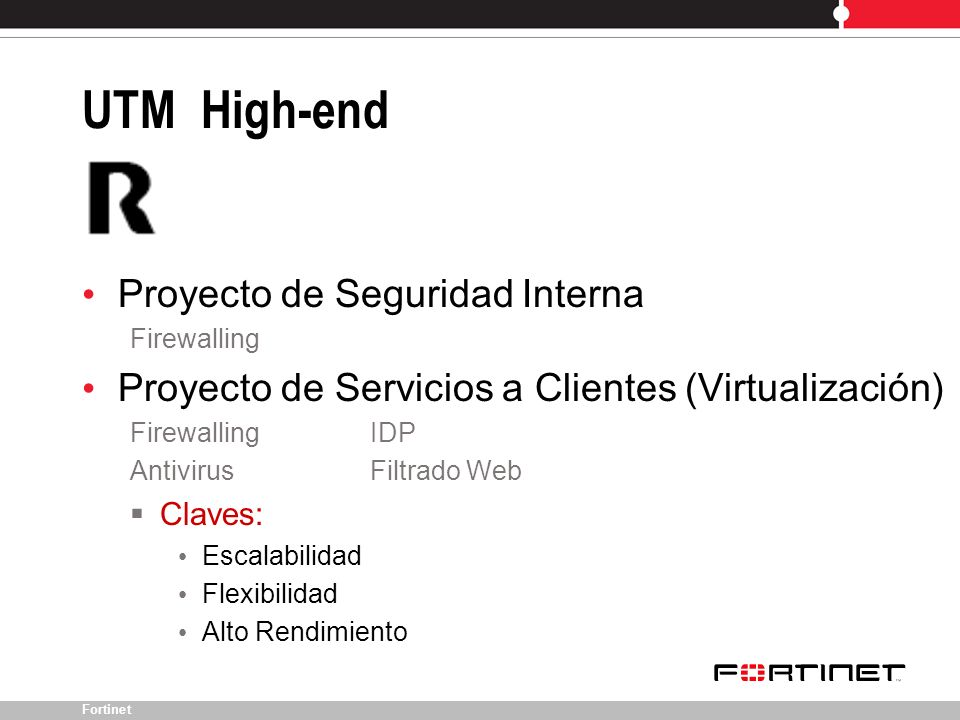 UTM High-end Proyecto de Seguridad Interna