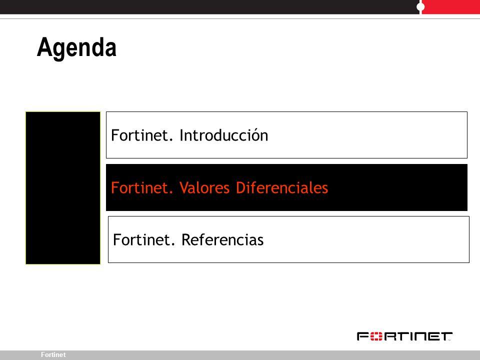 Agenda Fortinet. Introducción Fortinet. Valores Diferenciales