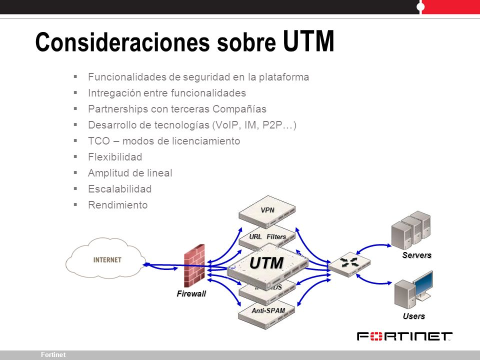 Consideraciones sobre UTM