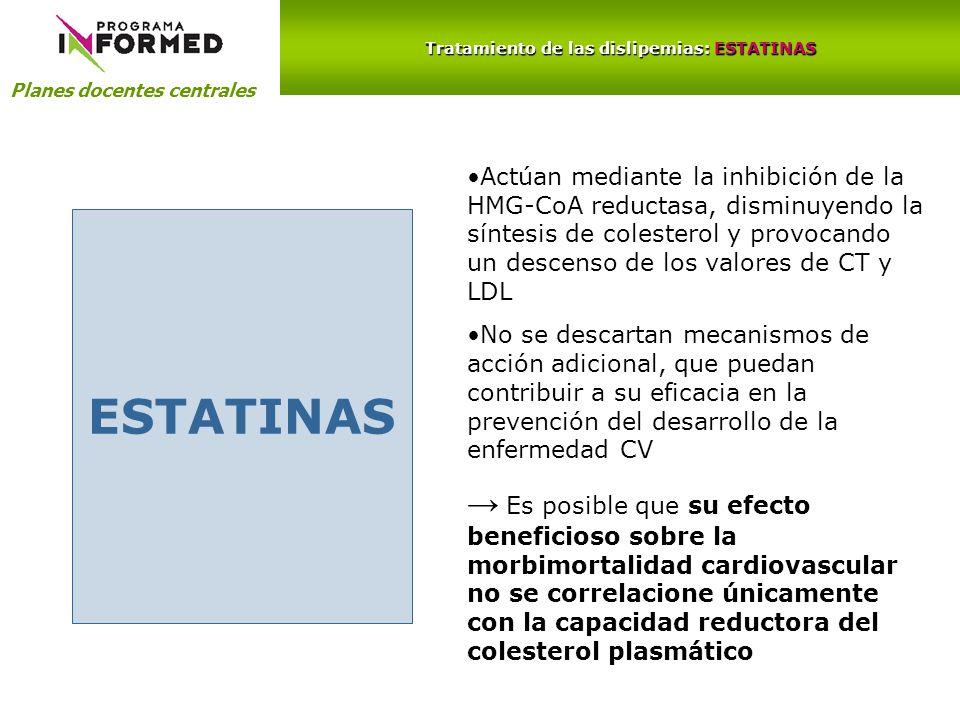 Tratamiento de las dislipemias: ESTATINAS