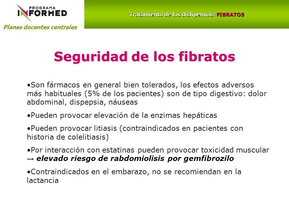 Tratamiento de las dislipemias: FIBRATOS Seguridad de los fibratos