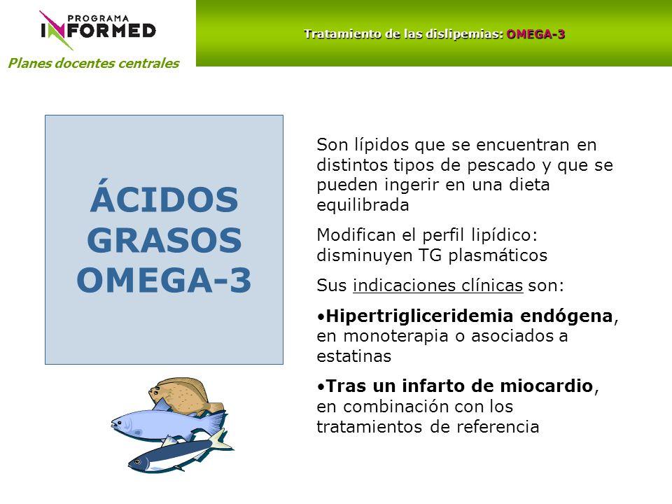 Tratamiento de las dislipemias: OMEGA-3