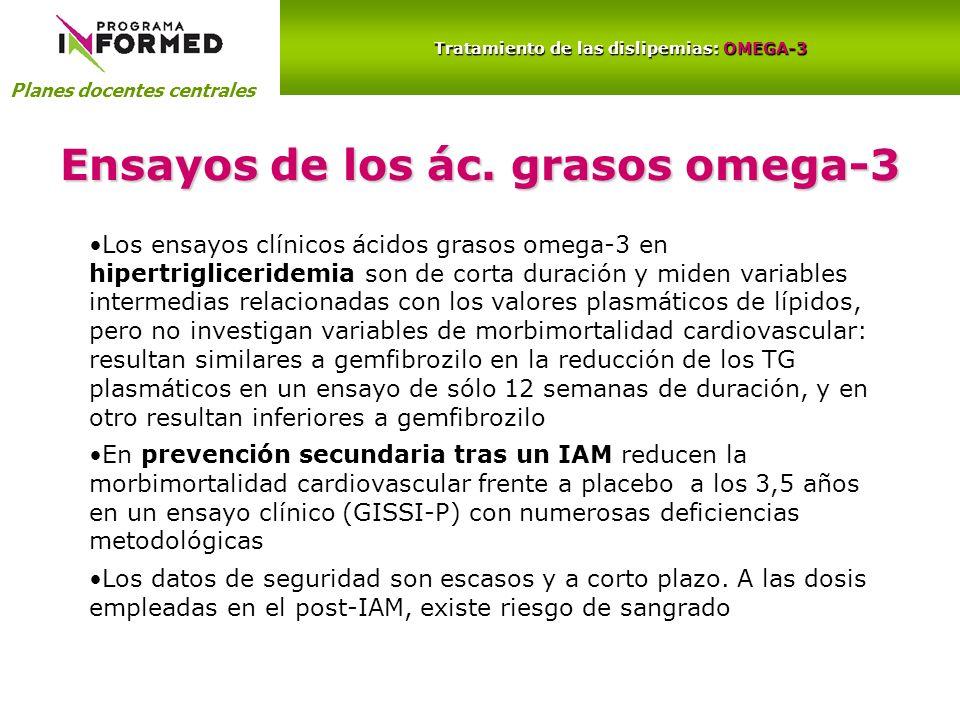 Ensayos de los ác. grasos omega-3