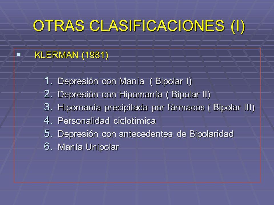 OTRAS CLASIFICACIONES (I)