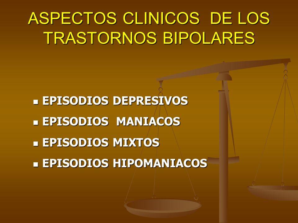 ASPECTOS CLINICOS DE LOS TRASTORNOS BIPOLARES