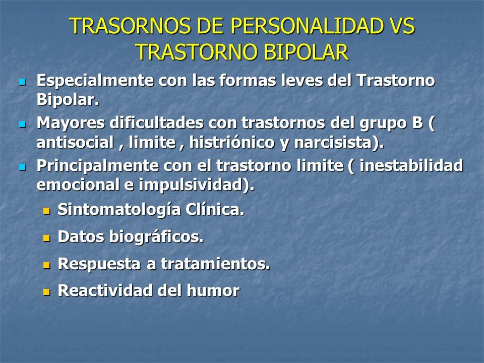 TRASORNOS DE PERSONALIDAD VS TRASTORNO BIPOLAR