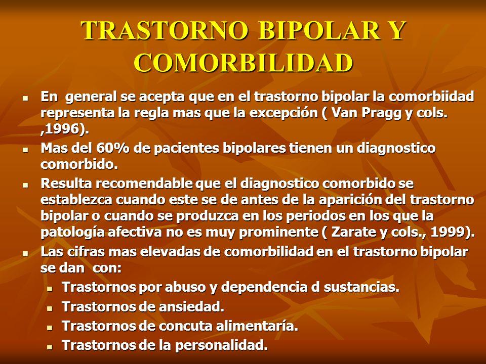 TRASTORNO BIPOLAR Y COMORBILIDAD