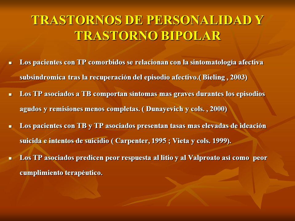 TRASTORNOS DE PERSONALIDAD Y TRASTORNO BIPOLAR